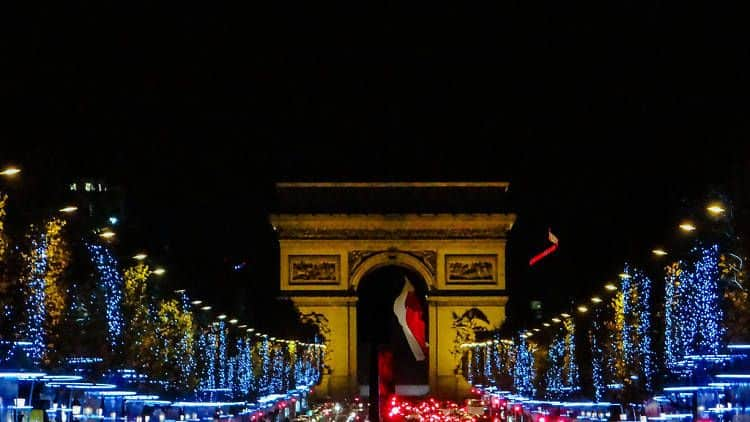 Champs Elysees Xmas Lights in Paris