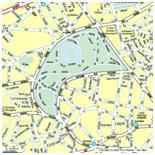 Chaumont Park map in Paris