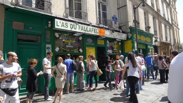 파리 마레 지구의 로지에르 거리에 있는 코세르 레스토랑,라스 뒤 팔라펠
