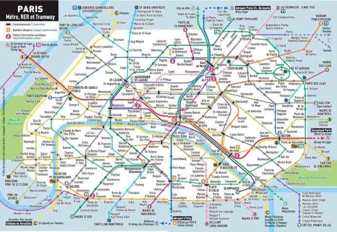 Mapa y billetes del metro de París 2019