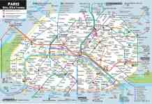 Paris metro map and prices