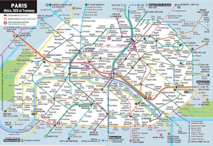 Paris Metroplan fur 2019