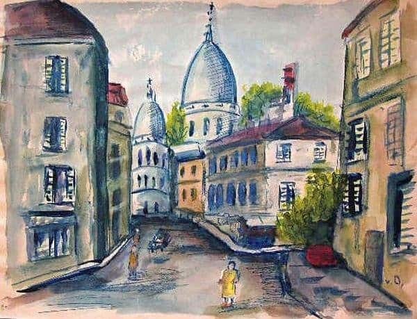 Montmartre and Sacré Coeur painted by Kees van Dongen