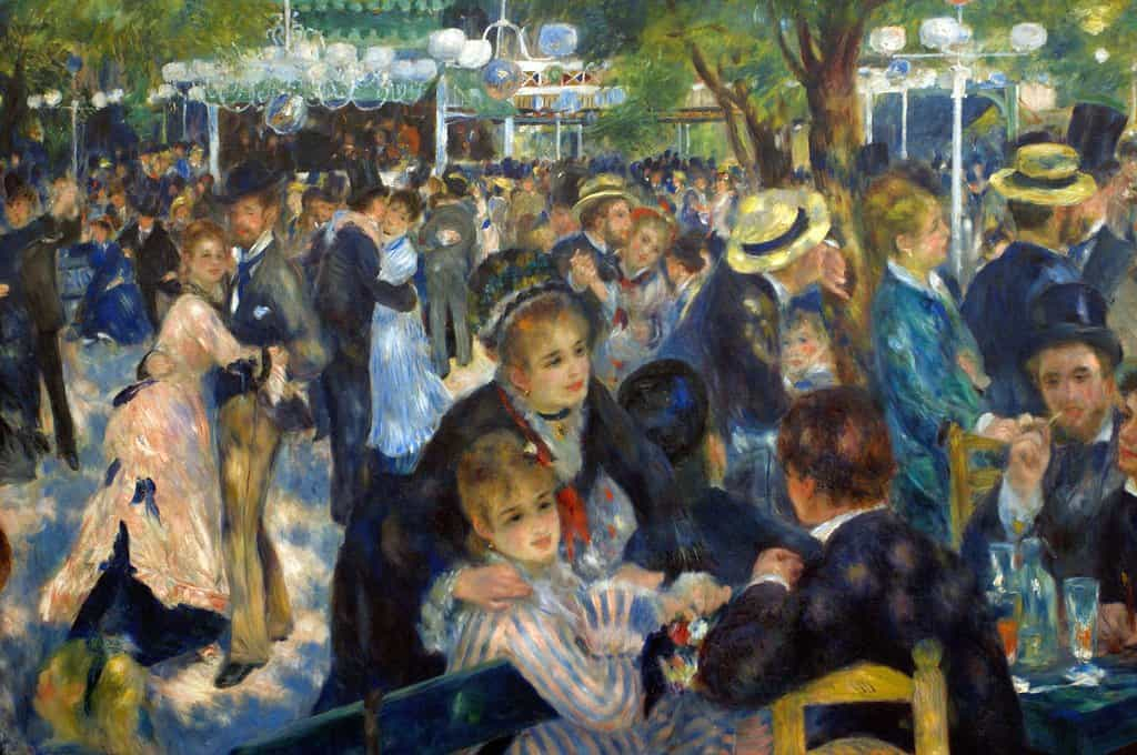 Le Moulin de la Galette at Montmarte Paris by Renoir