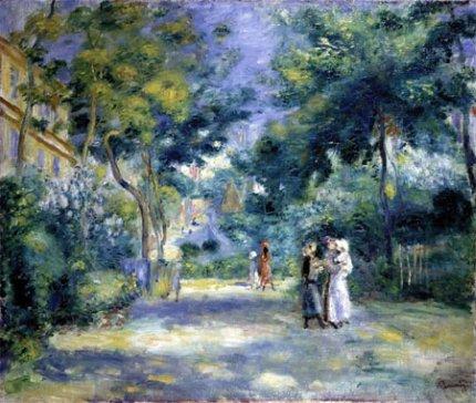 Renoir Garden in Montmartre Paris