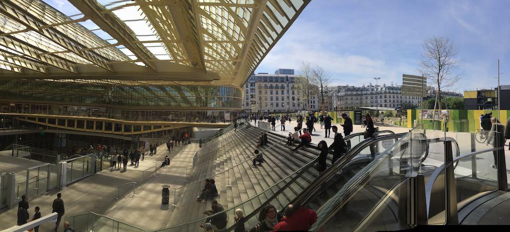 Forum des Halles Mall on Sunday in Paris