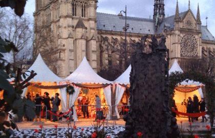 Mercado Navideño en Notre Dame en Paris
