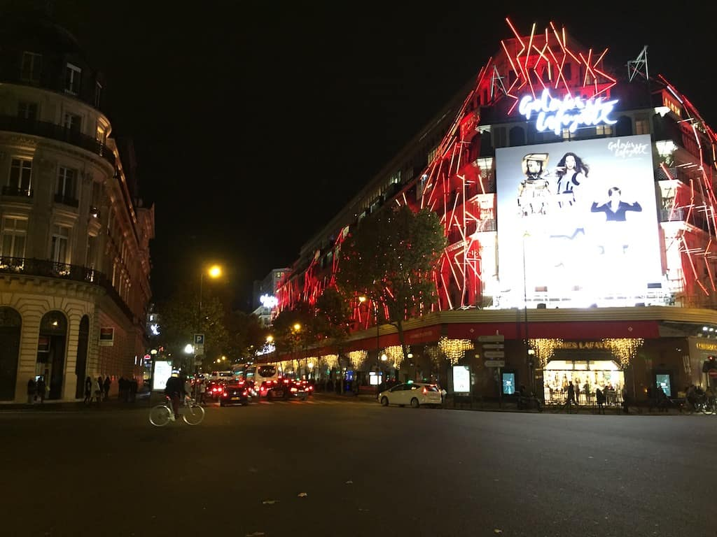 November lights in Paris