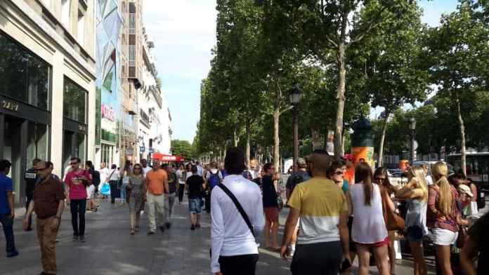 Shops on the Champs-Elysées Avenue