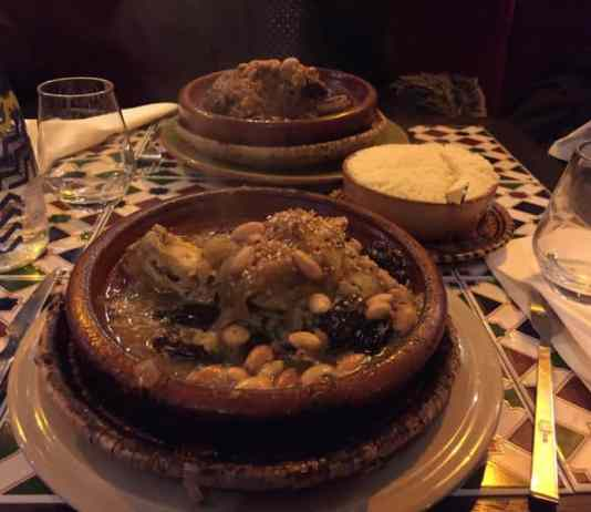 Tajine in a Moroccan restaurant in Paris
