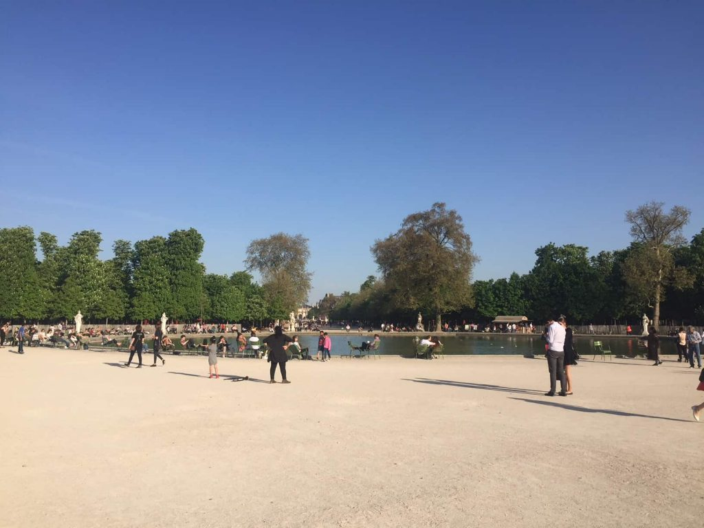 Sunny Weather in April in Paris