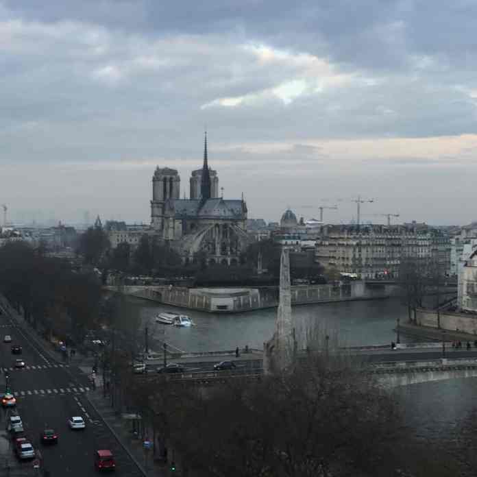 Notre Dame de Paris - view from Arab World Institute