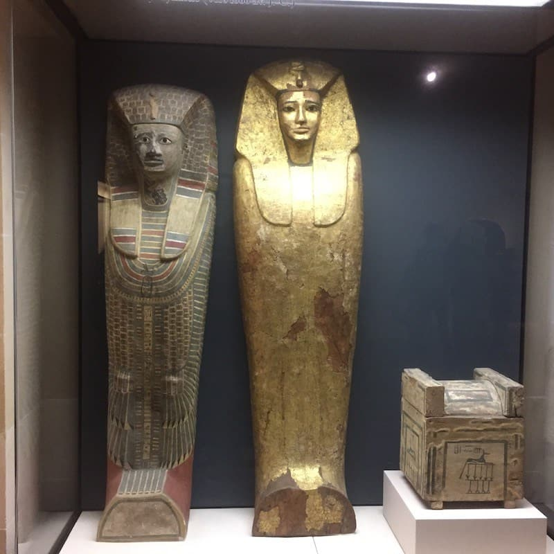 Egyptian Sarcophagi at the Louvre