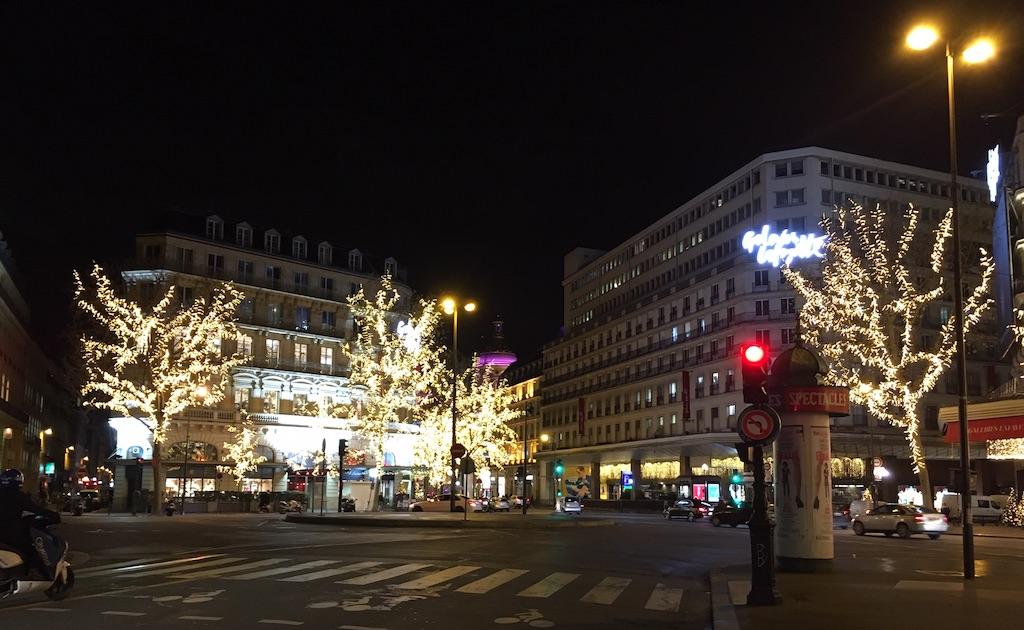 Christmas decoration in December in Paris