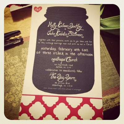 My Super DIY Wedding Invitations.