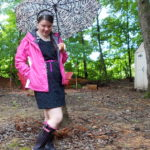 My Attempt at Fashion: Rainy Day Pink + Zebra Print!