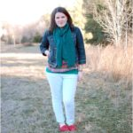 Mint Jeans + Emerald Scarves + Freezing Wind = Fashion