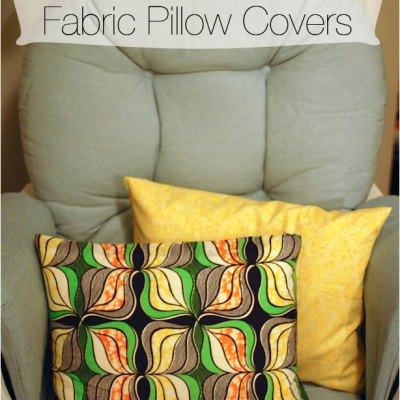 DIY No-Sew Fabric Pillow Covers | Nursery Project
