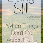 Being Still | When Things Don't Go According to Plan