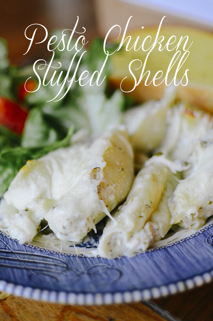 RECIPE   Pesto Chicken Stuffed Shells