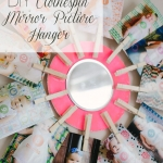 DIY Clothespin Mirror Picture Hanger
