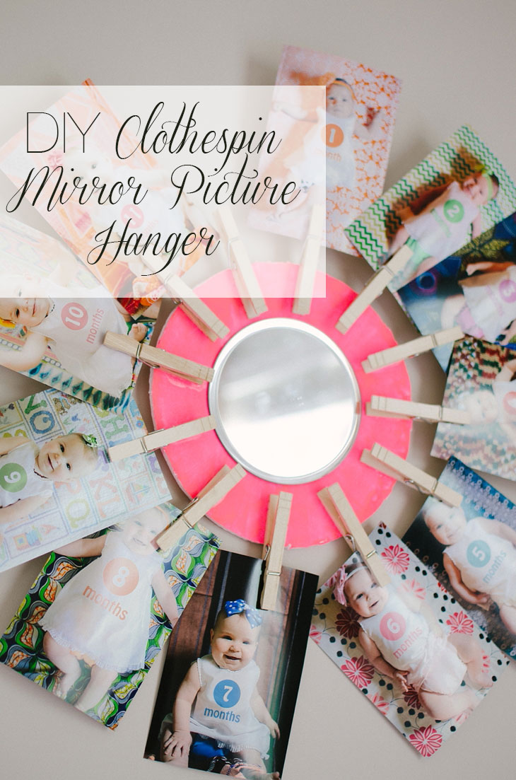 DIY Clothespin Mirror Picture Hanger #ValueSeekersClub #ad (5)