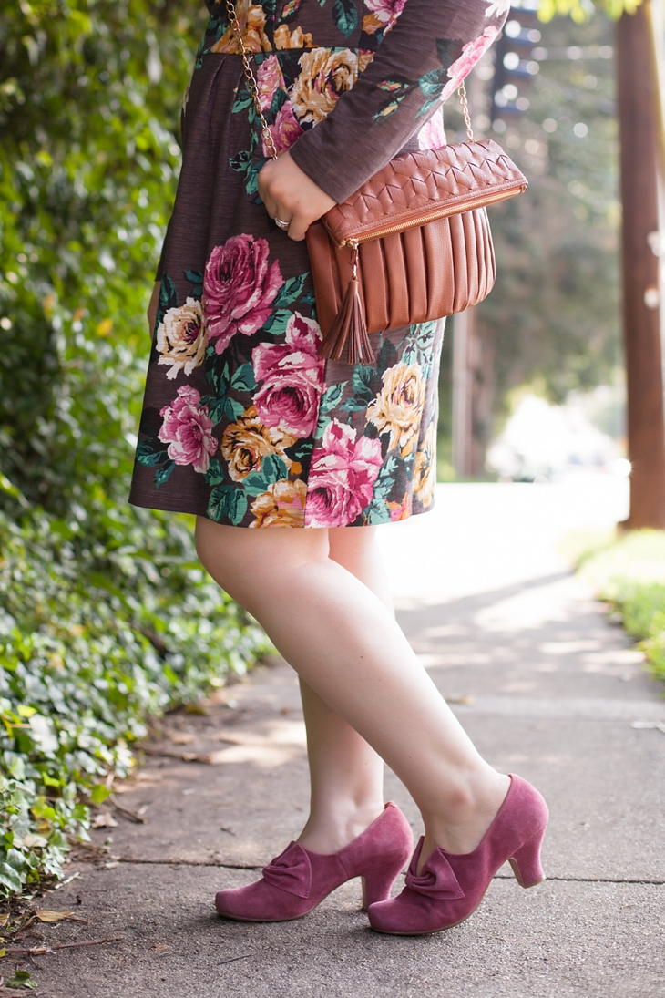 Joules rose sweater dress, Hotter.com Donna heels (4)