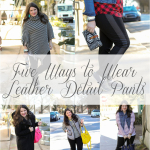 Five Ways to Wear Leather Detail Pants