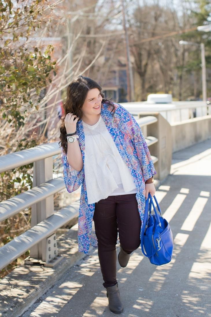 "Level 99 ""Charley Zipper Detail Coated Skinny Jean"", booties, Altar'd State Kimono, North Carolina Fashion Blogger (7)"