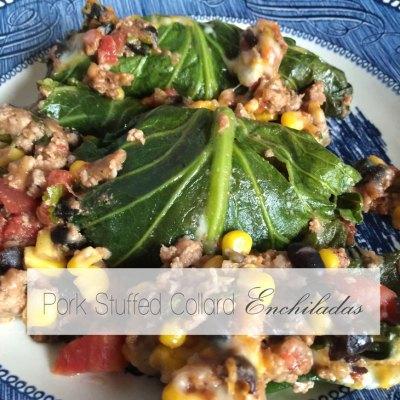 "RECIPE | Pork Stuffed Collard Green ""Enchiladas"""