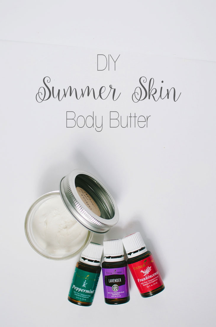 DIY Summer Skin Body Butter with Essential Oils | http://bit.ly/mollyyleo