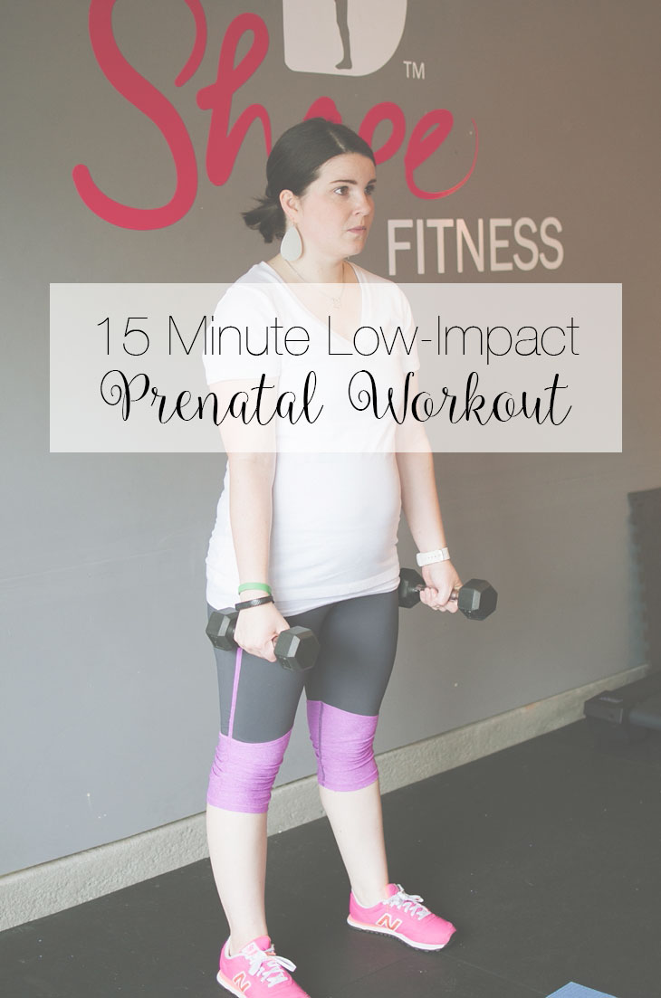 Fitness Friday: 15 Min Low-Impact Prenatal Workout
