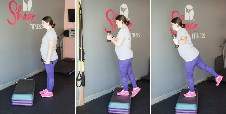 Fitness Friday | Easy At-Home Prenatal Step Cardio Workout (7)
