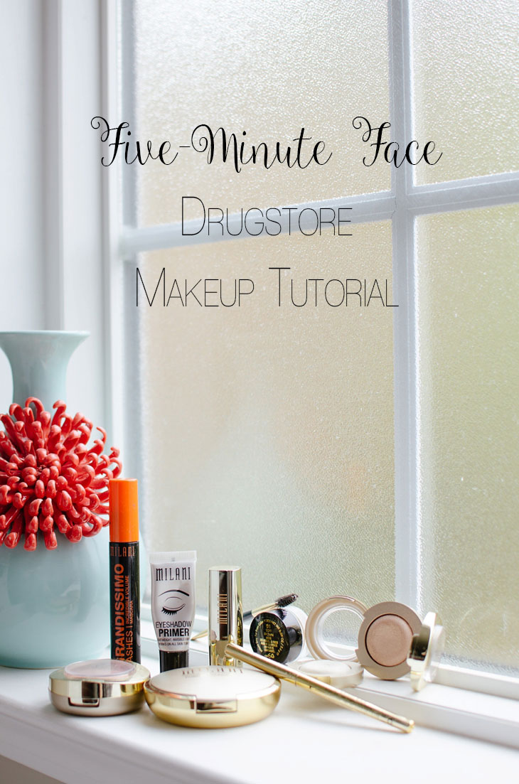 """5-Minute Face"" Makeup Tutorial, Giveaway, & Link-Up 