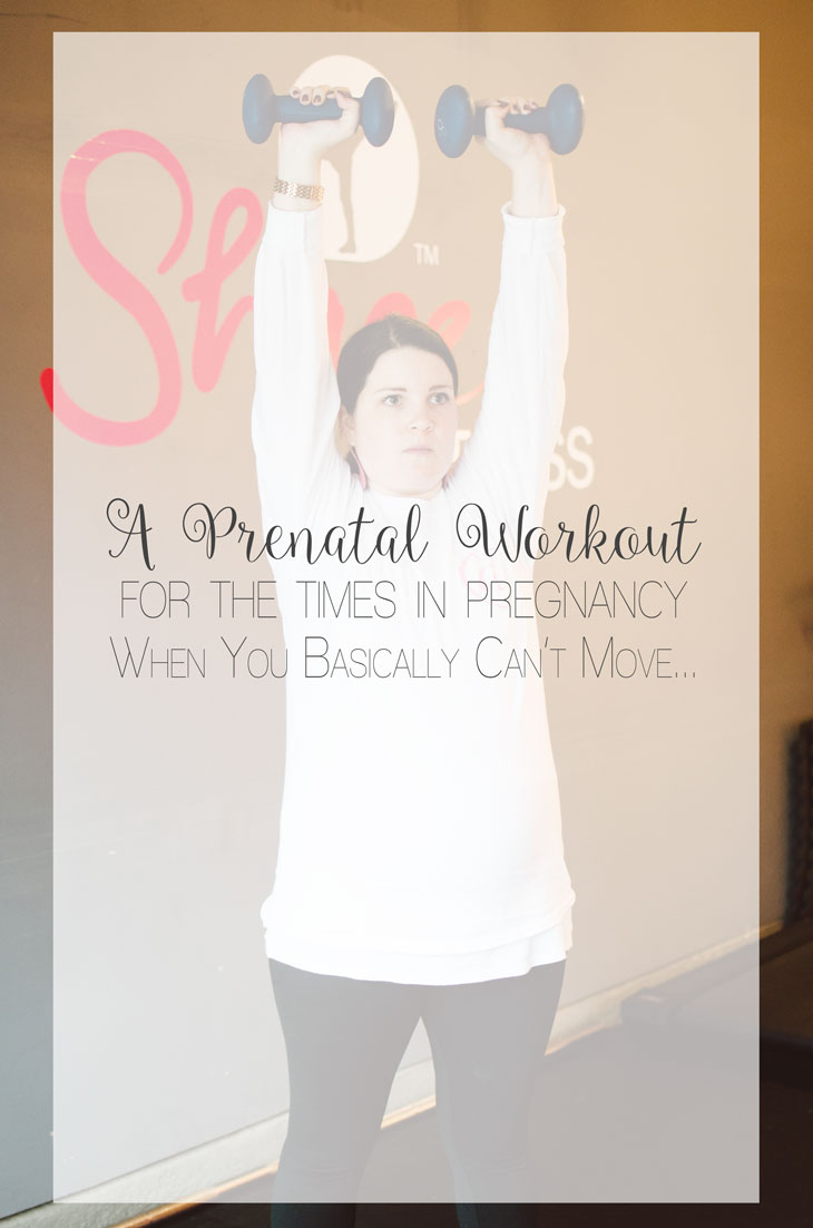 """A Prenatal Workout for the """"Nearly-Immobile"""" Pregnant Woman (or the times when you just can't move...)   Fitness Friday (10)"""