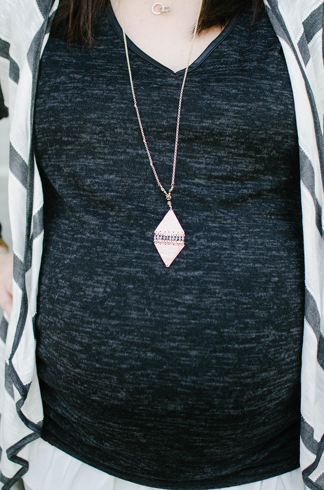 "Nakamol ""Calder Hammered Triangle Pendant Necklace"""