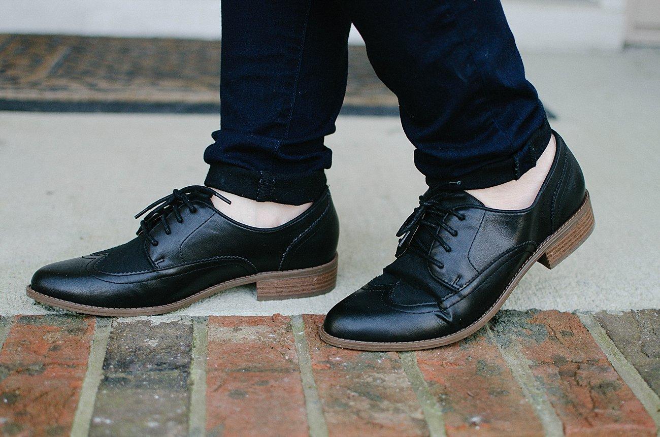 "BC Footwear ""Sidekick Mixed Material Oxfords"""