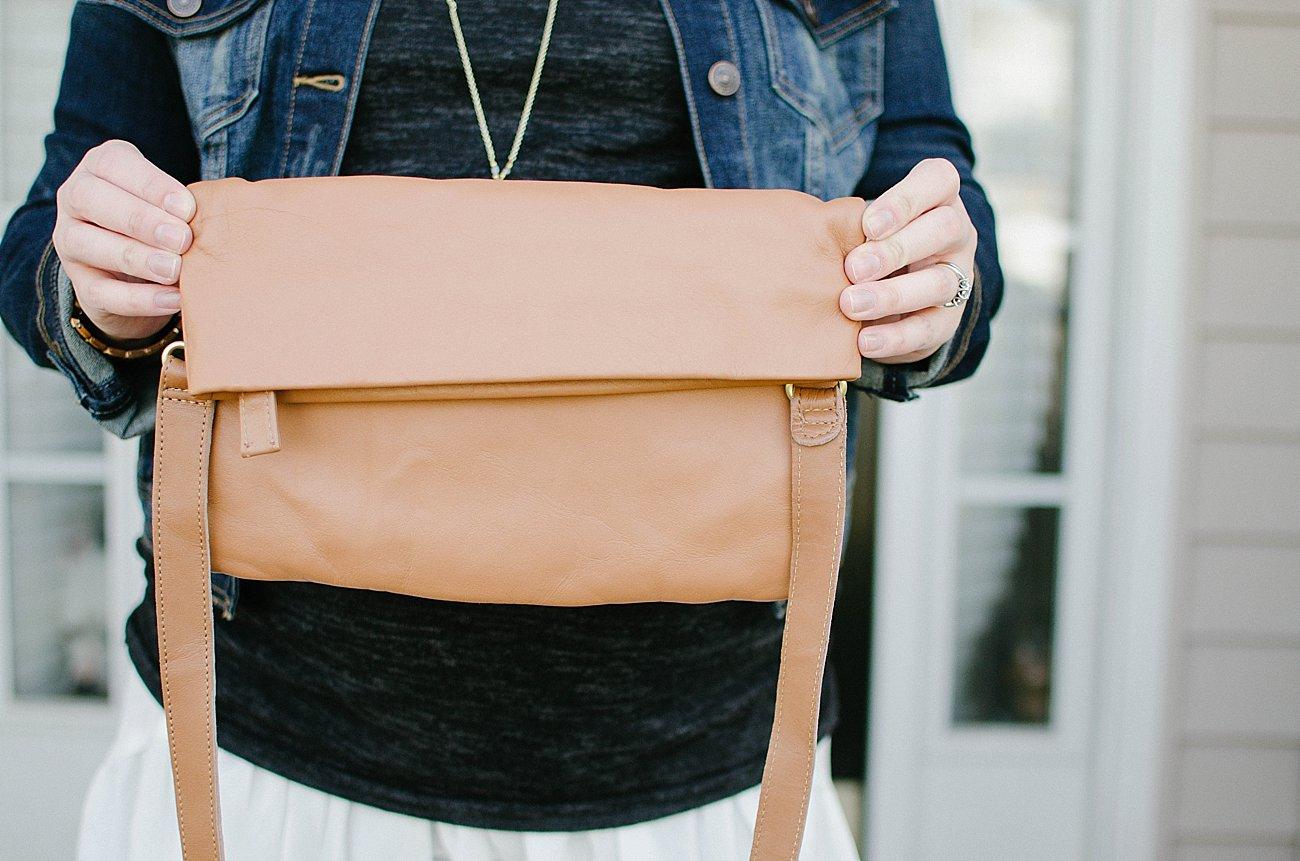 "SSEKO Designs ""Terra Leather Convertible Crossbody Bag"""