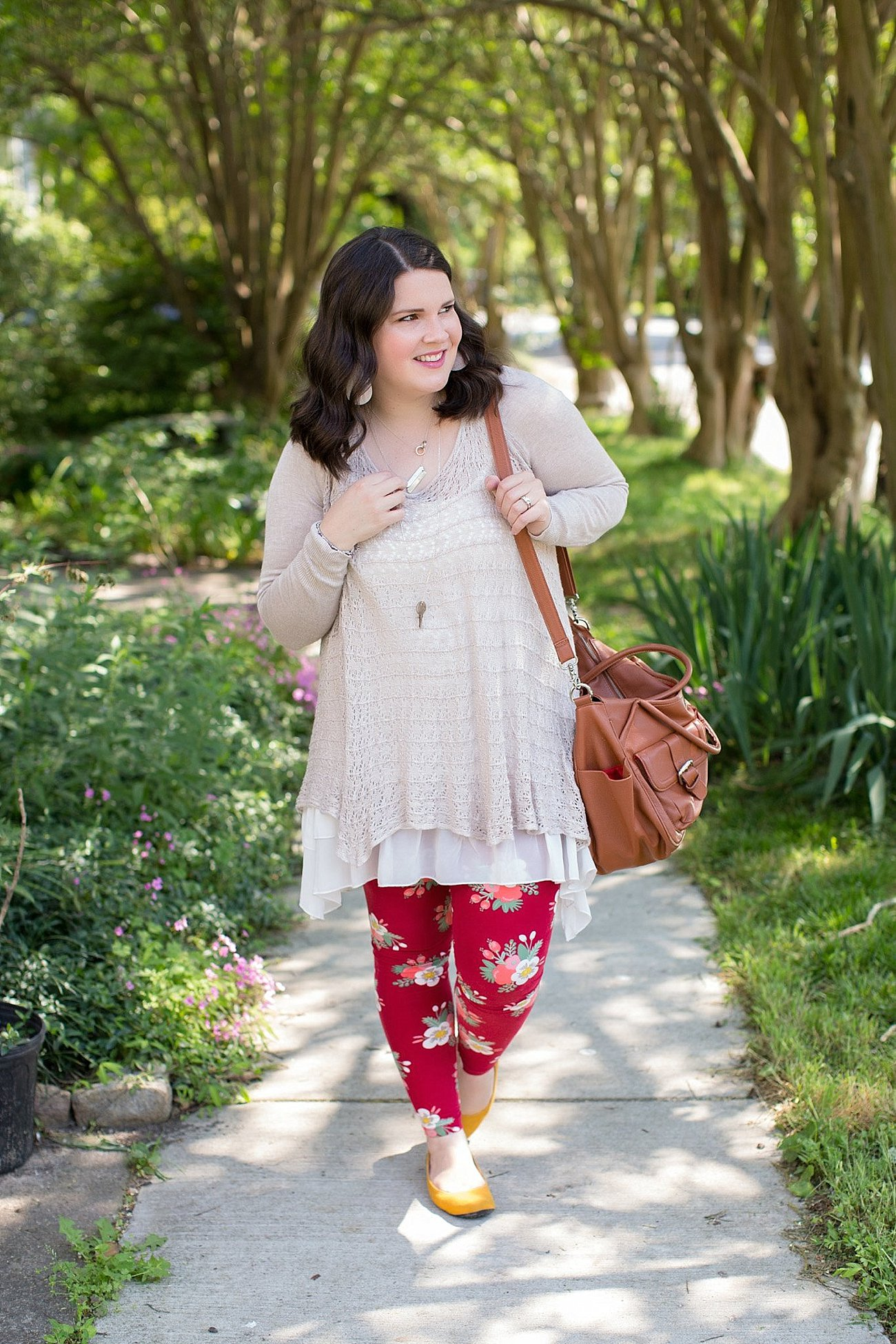 Grace & Lace two fit knit cardigan, lace extender, LulaRoe floral leggings, The Root Collective ballet flats | Ethical Fashion & Style Blogger (1)