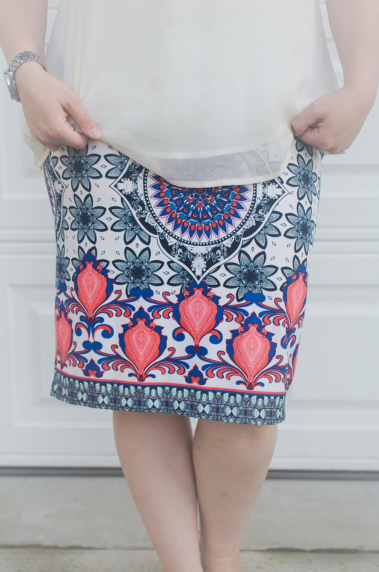 Stitch Fix RENEE C Alexia Printed Skirt