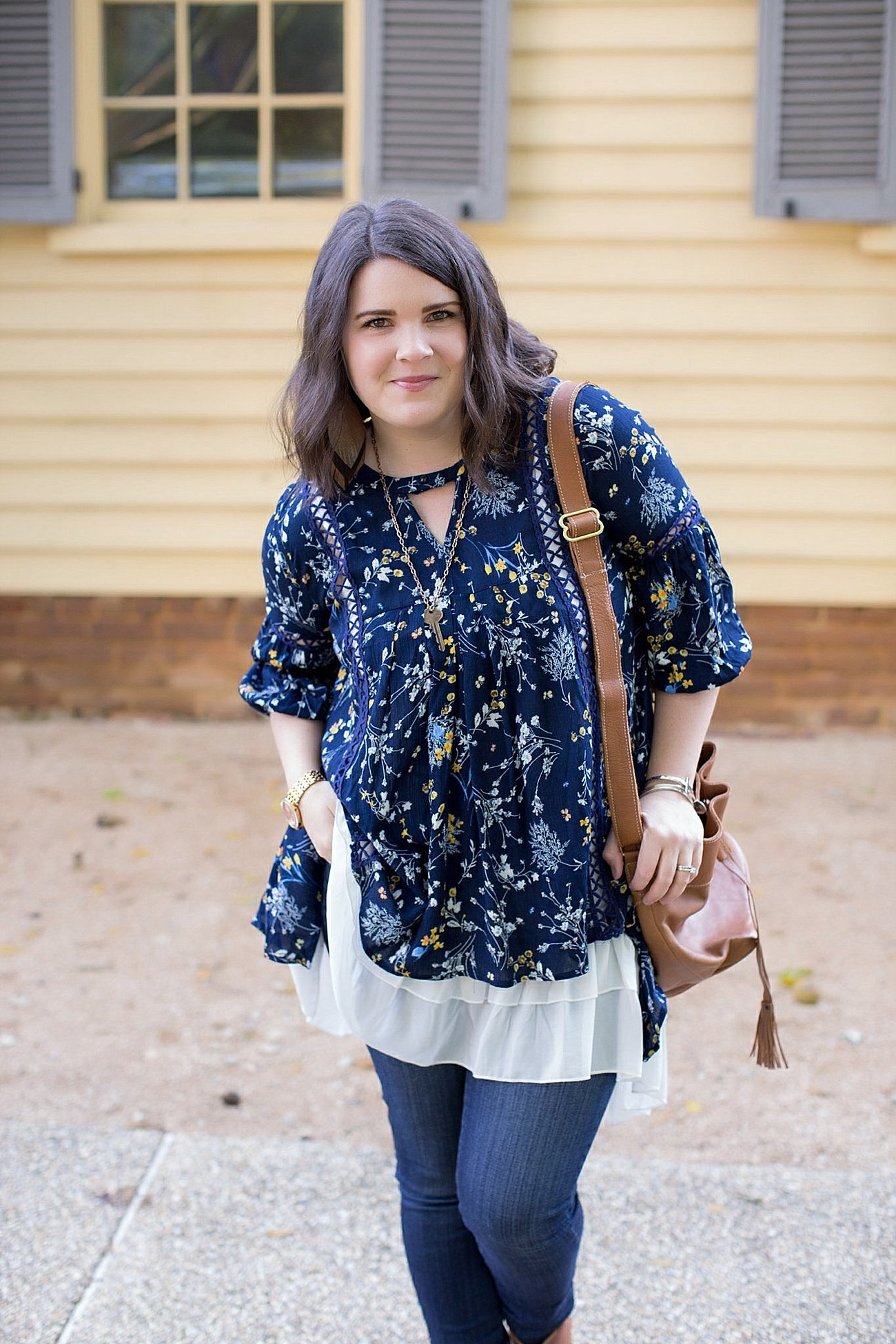 Grace & Lace peasant top and chiffon lace extender from The Flourish Market, Paige denim, Root Collective espe booties | Ethical Fashion, North Carolina Life and Style Blogger (9)