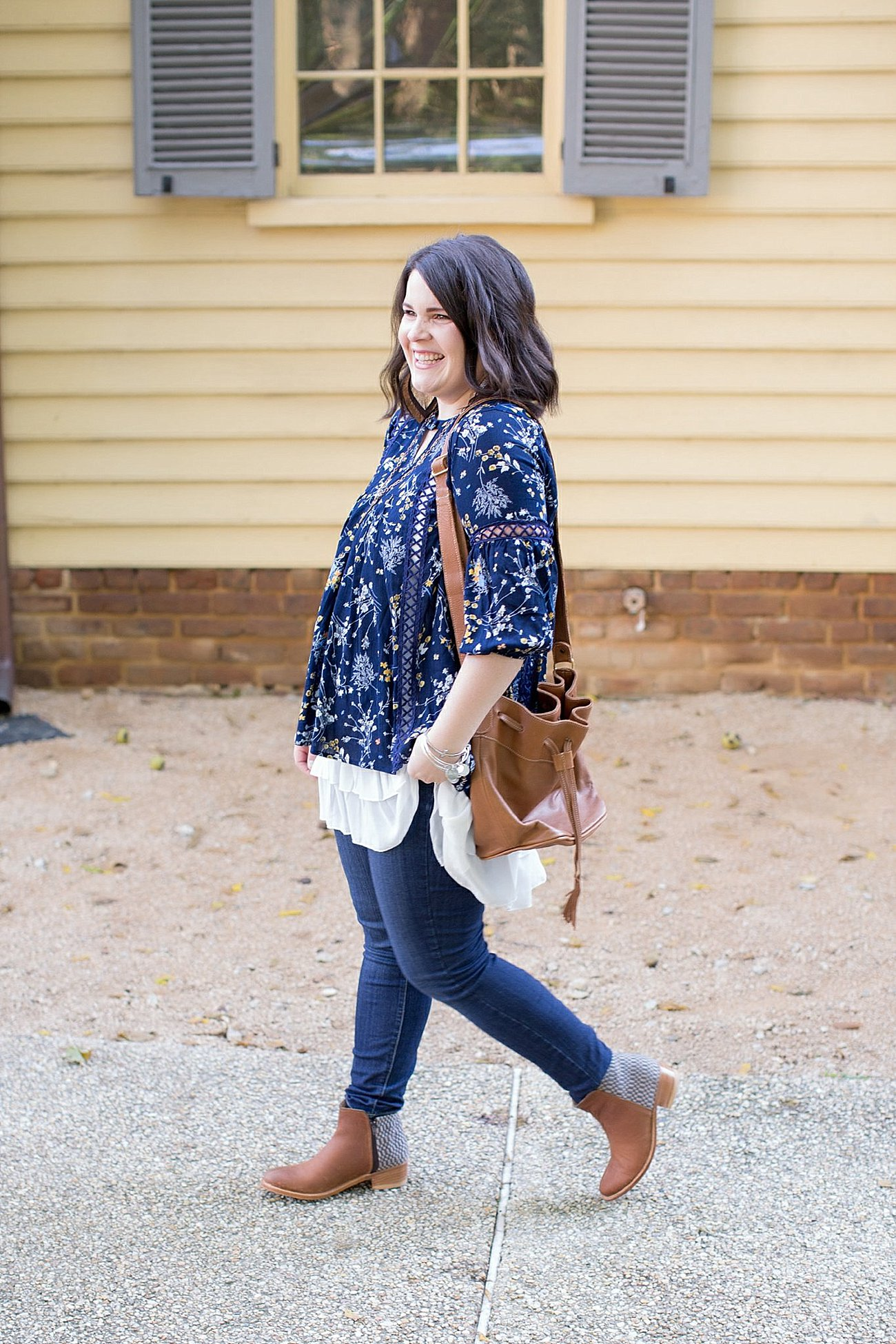 Grace & Lace peasant top and chiffon lace extender from The Flourish Market, Paige denim, Root Collective espe booties | Ethical Fashion, North Carolina Life and Style Blogger (11)