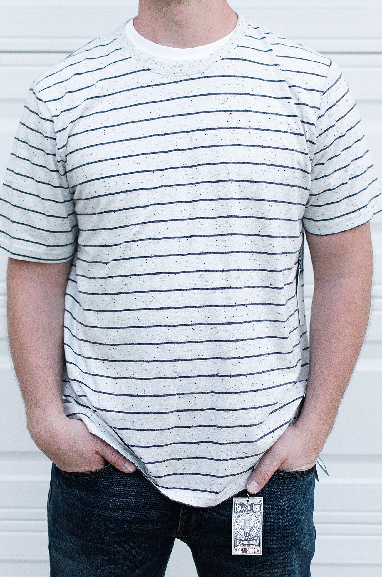 """Stitch Fix Men Review   Flag & Anthem """"Westport Textured Stripe Tee"""""""