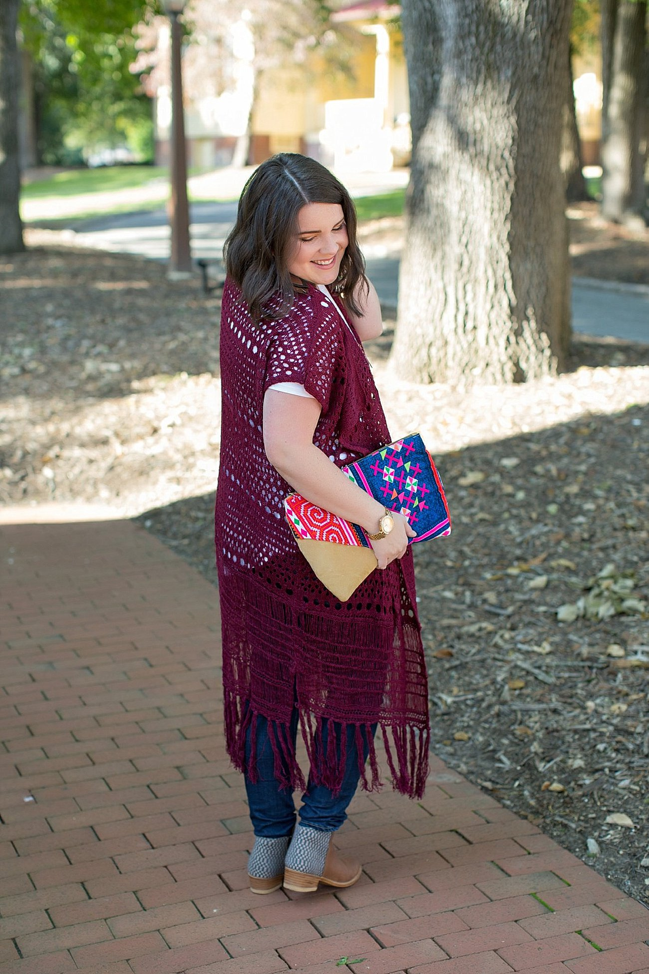 The Flourish Market Grace & Lace crochet duster, The Root Collective Espe booties (5)