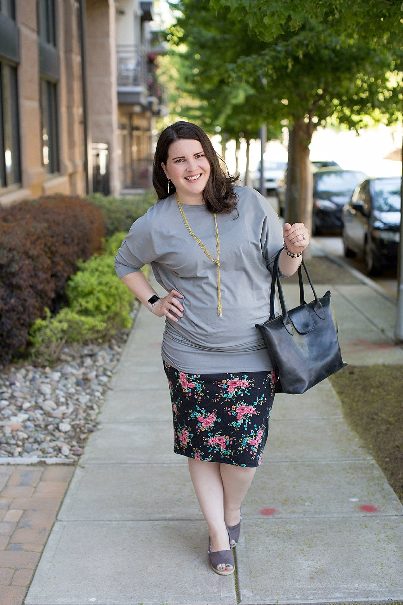 4 Ways to Wear a Floral Pencil Skirt by ethical fashion blogger Still Being Molly