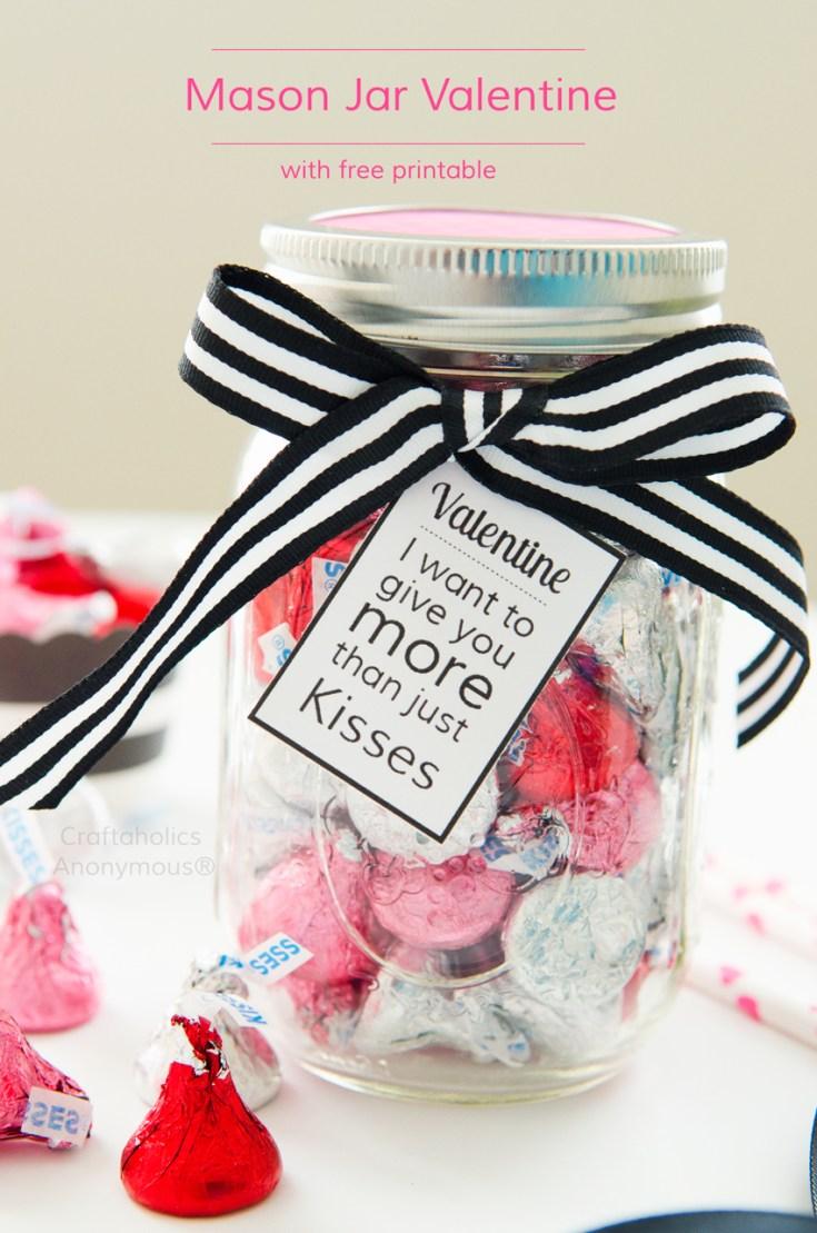 Mason Jar Valentine with Free Printable