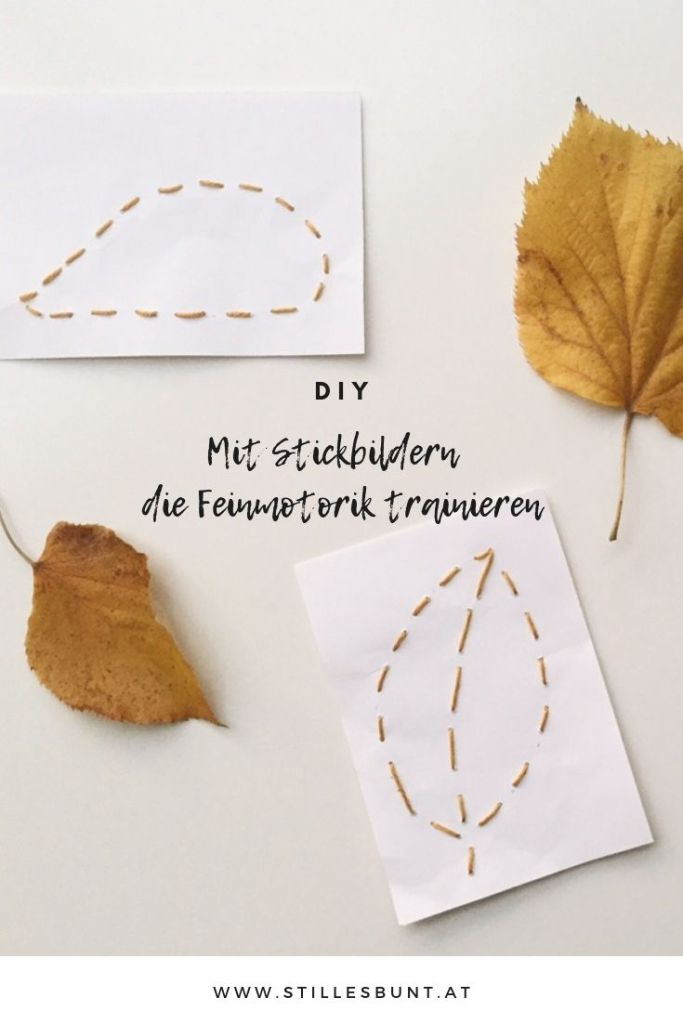 DIY Stickbilder stilles bunt