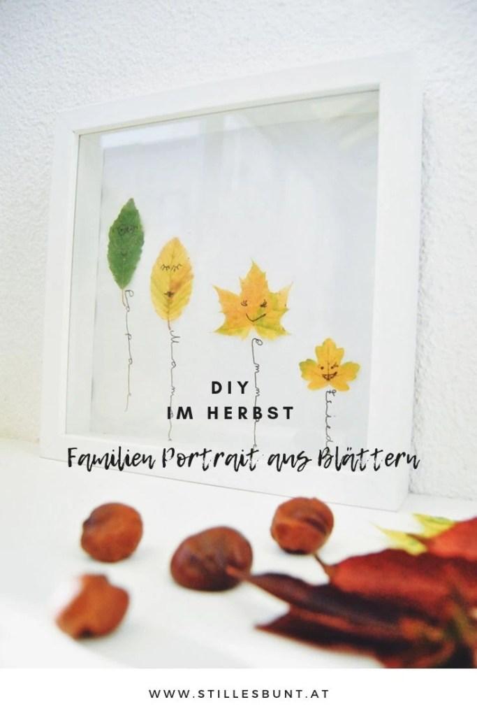 DIY Herbstporträt aus Blättern