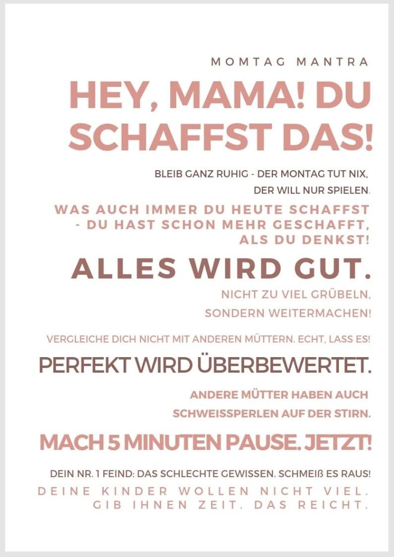 Druckvorlage Plakat Mama Motivation