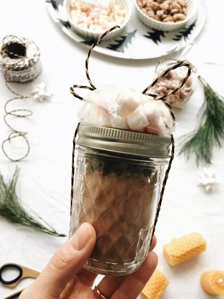 Hot Chocolate Mix im Glas